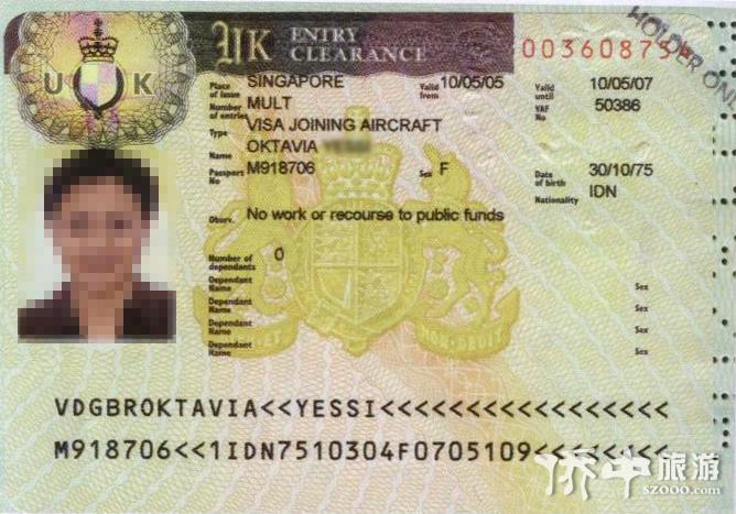 英国签证-旅游签证(需要面试)